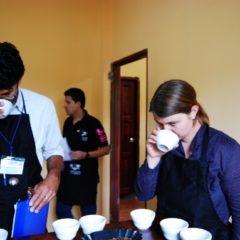 Probieren der Kaffees