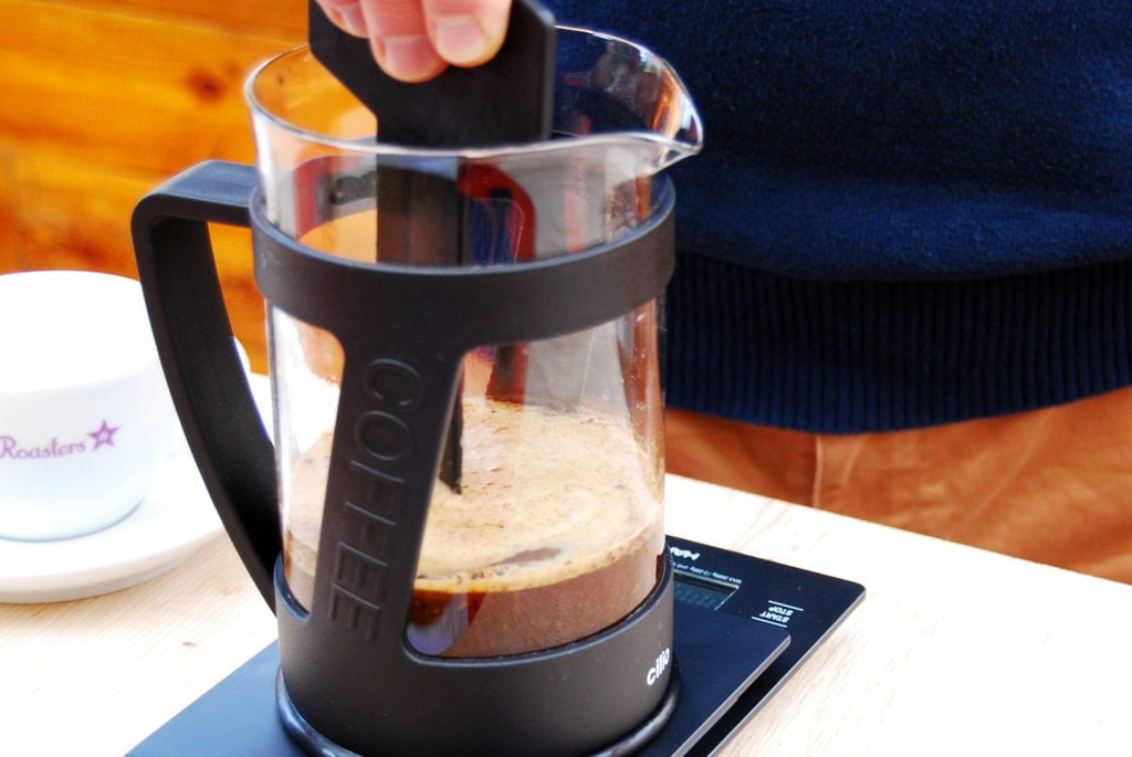 French Press – Schritt 3