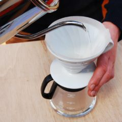 Pour over with Hario coffee paper filter