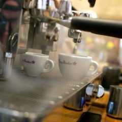Espresso machine in cafe in Berlin Wedding