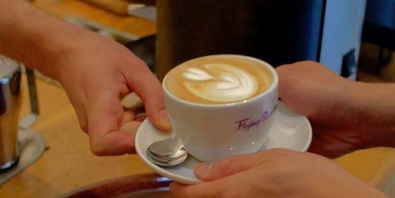 Cappuccino at café in Berlin Wedding
