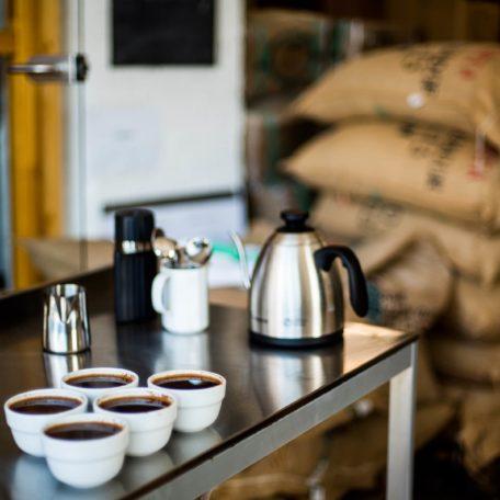 cupping und Qualitätskontrolle