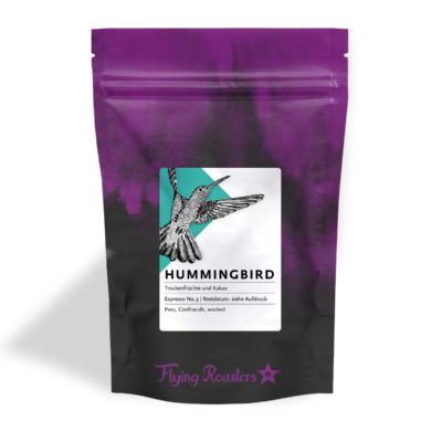 Coffee bag for chocolaty Espresso Hummingbird from Peru