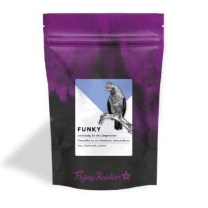 Kaffeetüte für schokoladigen Filterkaffee Funky aus Peru