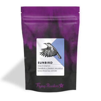 Kaffeetüte für würzigen Filterkaffee Sunbird aus Sumatra