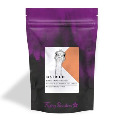 Coffee bag for Ostrich coffee from Ethiopia